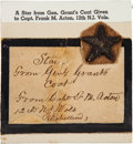 Military & Patriotic:Civil War, Ulysses S. Grant: Gold Bullion Star from Uniform....