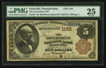 National Bank Notes:Pennsylvania, Pottsville, PA - $5 1882 Brown Back Fr. 467 The Government NB Ch. #1152. ...