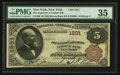 New York, NY - $5 1882 Brown Back Fr. 468 The Importers & Traders NB Ch. # 1231