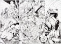 "Original Comic Art:Panel Pages, Jim Lee and Scott Williams Batman #609 ""Hush"" Pages 2-3Original Art (DC, 2002)...."