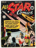 Golden Age (1938-1955):Superhero, All Star Comics #13 (DC, 1942) Condition: Apparent GD+....