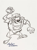 Animation Art:Production Drawing, Charles McKimson - Tasmanian Devil Illustration (1990s).... (Total:2 Items)