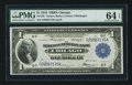Fr. 728 $1 1918 Federal Reserve Bank Note PMG Choice Uncirculated 64 EPQ