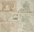 Books:Maps & Atlases, [Maps]. Group of Five Eighteenth-Century Engraved Maps. Variouspublishers, circa mid-eighteenth century. . ...