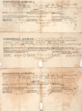 Books:Americana & American History, [War of 1812]. Group of Three Subsistence Account Forms. Each datedMay 1, 1814. Expense account forms for Lt. Col. H.W. Dob...