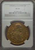 Colombia, Colombia: Charles IV gold 8 Escudos 1792 NR-JJ VF35 NGC,...
