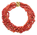 Estate Jewelry:Necklaces, Coral, Gold Necklace, Verdura. ...