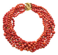 Coral, Gold Necklace, Verdura