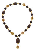 Estate Jewelry:Necklaces, Wood, Gold Necklace, Van Cleef & Arpels. ...
