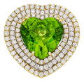 Estate Jewelry:Rings, Peridot, Diamond, Gold Ring. ...