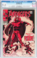 Silver Age (1956-1969):Superhero, The Avengers #57 (Marvel, 1968) CGC NM- 9.2 Off-white to white pages....