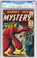 Silver Age (1956-1969):Horror, Journey Into Mystery #62 (Marvel, 1960) CGC VF- 7.5 Off-white towhite pages....