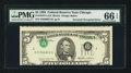 Error Notes:Inverted Third Printings, Fr. 1978-G $5 1985 Federal Reserve Note. PMG Gem Uncirculated 66EPQ.. ...
