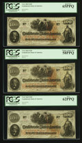 Confederate Notes:1862 Issues, T41 $100 1862 PF-57 Cr. 328 Seven Examples.. ... (Total: 7 notes)