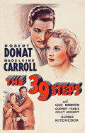 """Movie Posters:Hitchcock, The 39 Steps (Gaumont, R-1939). One Sheet (27"""" X 41"""").. ..."""