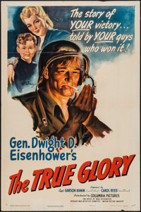 "The True Glory (Columbia, 1945). One Sheet (27"" X 41""). War"