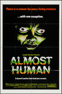 "Almost Human & Other Lot (Joseph Brenner Associates, 1979). One Sheets (2) (27"" X 41""). Horror. ... (Total..."