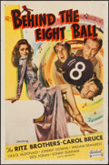 """Movie Posters:Comedy, Behind the Eight Ball (Realart, R-1949). One Sheet (27"""" X 41""""). Comedy.. ..."""