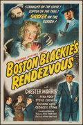 "Movie Posters:Crime, Boston Blackie's Rendezvous (Columbia, 1945). One Sheet (27"" X41""). Crime.. ..."