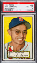 Baseball Cards:Singles (1950-1959), 1952 Topps Dom DiMaggio (Black Back) #22 PSA NM-MT 8 - Only OneHigher....