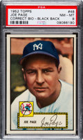 Baseball Cards:Singles (1950-1959), 1952 Topps Joe Page (Correct Bio, Black Back) #48 PSA NM-MT 8 - Only One Higher....