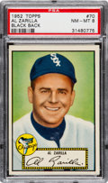 Baseball Cards:Singles (1950-1959), 1952 Topps Al Zarilla (Black Back) #70 PSA NM-MT 8 - NoneHigher....