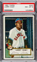 Baseball Cards:Singles (1950-1959), 1952 Topps Larry Doby #243 PSA NM-MT 8....