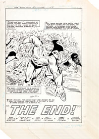 """Don Heck Action Comics #520 """"The End"""" Aquaman Complete 8-Page Story Original Art (DC, 1981).... (Total: 8 Orig..."""