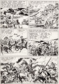 """Original Comic Art:Panel Pages, Jack Kirby and Mort Meskin Boys' Ranch #4 """"Fight To The Finish"""" Page 2 Original Art (Harvey, 1951)...."""