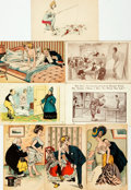 Miscellaneous:Postcards, [Postcards]. Collection of Eight Early Twentieth-Century BawdyPostcards. Various publishers, circa 1900. ...
