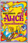 "Movie Posters:Animation, Alice in Wonderland (Buena Vista, R-1974). One Sheet (27"" X 41"").Animation.. ..."