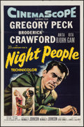 "Movie Posters:Adventure, Night People & Other Lot (20th Century Fox, 1954). One Sheets(2) (27"" X 41""). Adventure.. ... (Total: 2 Items)"