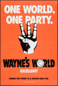 """Wayne's World & Other Lot (Paramount, 1992). One Sheets (2) (27"""" X 40"""" & 27"""" X 41"""")..."""