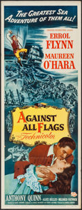 "Movie Posters:Swashbuckler, Against All Flags (Universal International, 1952). Insert (14"" X 36""). Swashbuckler.. ..."