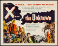 """Movie Posters:Science Fiction, X... the Unknown (Warner Brothers, 1957). Half Sheet (22"""" X 28"""").Science Fiction.. ..."""