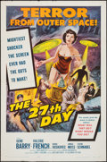 "Movie Posters:Science Fiction, The 27th Day (Columbia, 1957). One Sheet (27"" X 41""). Science Fiction.. ..."
