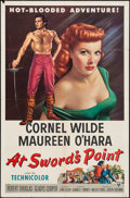 "Movie Posters:Adventure, At Sword's Point (RKO, 1952). One Sheet (27"" X 41""). Adventure....."