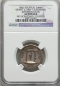 U.S. Presidents & Statesmen, 1861 Jefferson Davis Political Medal -- Reverse Scratched, Cleaned-- NGC Details. AU. DeWitt-C-1861-13. Silvered brass, 24m...
