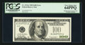 Error Notes:Obstruction Errors, Fr. 2176-J $100 1999 Federal Reserve Note. PCGS Very Choice New64PPQ.. ...