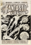 Original Comic Art:Covers, Sal Buscema and Joe Sinnott Fantastic Four #123 Cover SilverSurfer and Richard Nixon Original Art (Marvel, 1972).... (Total: 2Items)