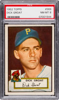 Baseball Cards:Singles (1950-1959), 1952 Topps Dick Groat #369 PSA NM-MT 8....