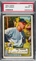 Baseball Cards:Singles (1950-1959), 1952 Topps Jim Turner #373 PSA NM-MT 8....