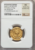 Ancients:Byzantine, Ancients: Justin II (AD 565-578). AV solidus (4.45 gm)....