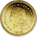 Proof Four Dollar Gold Pieces: , 1879 $4 $4 Flowing Hair, Judd-1635, Pollock-1832, 1833, R.3, 6, PR63 Deep Cameo PCGS. Although there is no such thing as a ...