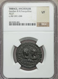 Ancients:Roman Provincial , Ancients: THRACE. Anchialus. Gordian III & Tranquillina (AD238-244). AE 27 mm (no wt. given)....