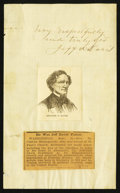Obsoletes By State:Mixed States, Jefferson Davis, President of the Confederate States, Signature Clipped from Letter.. ...