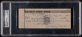 Baseball Collectibles:Others, Dizzy Dean Signed Check....