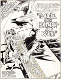 "Original Comic Art:Complete Story, John Calnan and Dick Giordano Batman #304 ""To Hell with Batman -- And Back!"" Complete 17-Page Story Original Art (... (Total: 17 Original Art)"