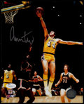 Basketball Collectibles:Photos, Jerry West Signed Photograph....
