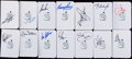 Golf Collectibles:Autographs, Golf Greats Signed Masters Scorecards Lot of 14....